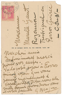GEORGES BRAQUE - AUTOGRAPH LETTER SIGNED CIRCA 1934