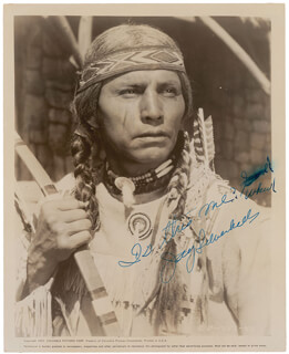 Autographs: JAY TONTO SILVERHEELS - PHOTOGRAPH SIGNED