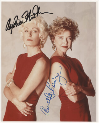 THE GRIFTERS MOVIE CAST - AUTOGRAPHED SIGNED PHOTOGRAPH CO-SIGNED BY: ANJELICA HUSTON, ANNETTE BENING