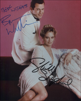 MOONLIGHTING TV CAST - AUTOGRAPHED SIGNED PHOTOGRAPH CO-SIGNED BY: BRUCE WILLIS, CYBILL SHEPHERD
