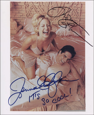 DHARMA & GREG TV CAST - AUTOGRAPHED SIGNED PHOTOGRAPH CO-SIGNED BY: JENNA ELFMAN, THOMAS GIBSON