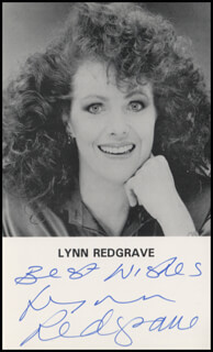 LYNN REDGRAVE - PRINTED PHOTOGRAPH SIGNED IN INK