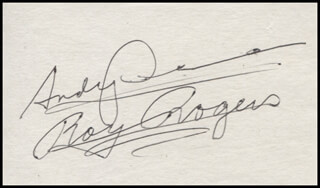 ANDY DEVINE - AUTOGRAPH CO-SIGNED BY: ROY ROGERS