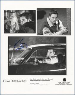 KERR SMITH - PRINTED PHOTOGRAPH SIGNED IN INK