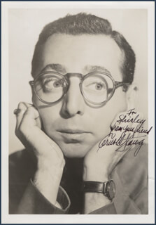 ARNOLD STANG - AUTOGRAPHED INSCRIBED PHOTOGRAPH