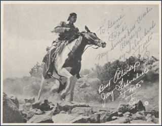 Autographs: JAY TONTO SILVERHEELS - INSCRIBED PHOTOGRAPH SIGNED