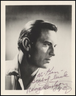 GEORGE MONTGOMERY - AUTOGRAPHED INSCRIBED PHOTOGRAPH 1982