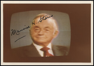 Autographs: MAURICE H. STANS - PHOTOGRAPH SIGNED