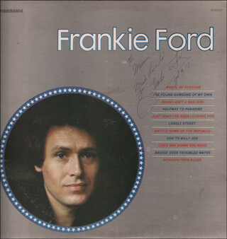 FRANKIE FORD - INSCRIBED RECORD ALBUM COVER SIGNED 07/02/1977