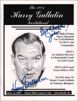 HARRY GALLATIN - INSCRIBED PROGRAM SIGNED