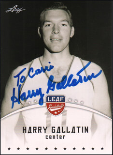 Autographs: HARRY GALLATIN - INSCRIBED TRADING CARD SIGNED