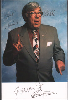 FRANK CARSON - AUTOGRAPHED INSCRIBED PHOTOGRAPH