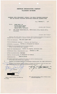 SAMMY DAVIS JR. - DOCUMENT SIGNED 02/07/1969