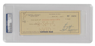 ERROL FLYNN - AUTOGRAPHED SIGNED CHECK 03/20/1947