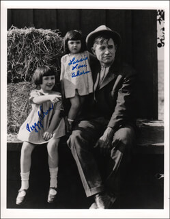 Autographs: PEGGY AHERN - PHOTOGRAPH SIGNED CO-SIGNED BY: LASSIE LOU AHERN