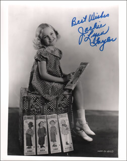 JACKIE LYNN TAYLOR - AUTOGRAPHED SIGNED PHOTOGRAPH