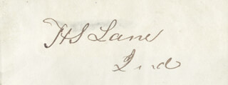 Autographs: HENRY S. LANE - SIGNATURE(S)