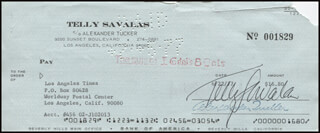 TELLY SAVALAS - AUTOGRAPHED SIGNED CHECK 06/22/1977