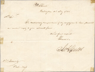 BRIGADIER GENERAL JAMES SHIELDS - MANUSCRIPT LETTER SIGNED 05/26/1854