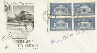 HENRY CABOT LODGE JR. - FIRST DAY COVER SIGNED