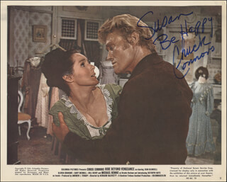 CHUCK CONNORS - INSCRIBED LOBBY CARD SIGNED