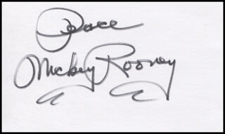 MICKEY ROONEY - AUTOGRAPH SENTIMENT SIGNED