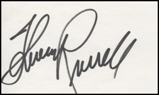 THERESA RUSSELL - AUTOGRAPH
