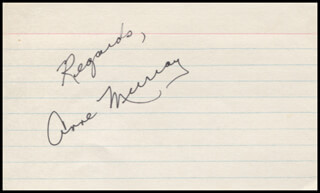 ANNE MURRAY - AUTOGRAPH SENTIMENT SIGNED