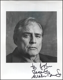 MARLON BRANDO - AUTOGRAPHED INSCRIBED PHOTOGRAPH