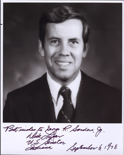 RICHARD G. LUGAR - AUTOGRAPHED SIGNED PHOTOGRAPH 09/06/1978