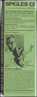 GEORGE PLIMPTON - ADVERTISEMENT SIGNED