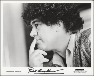 PEDRO ALMODOVAR - PRINTED PHOTOGRAPH SIGNED IN INK