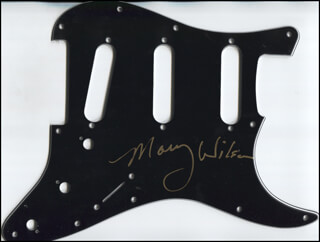 THE SUPREMES (MARY WILSON) - PICK GUARD SIGNED