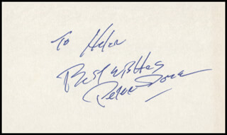 PETER DOBSON - AUTOGRAPH NOTE SIGNED