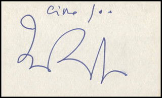 FRED (ALFREDO) BONGUSTO - AUTOGRAPH NOTE SIGNED