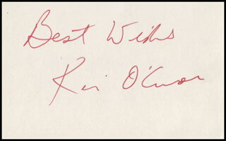 KEVIN O'CONNOR - AUTOGRAPH SENTIMENT SIGNED