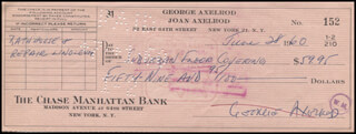 GEORGE AXELROD - AUTOGRAPHED SIGNED CHECK 06/28/1960