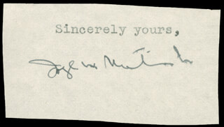 JOSEPH W. MARTIN JR. - TYPED SENTIMENT SIGNED