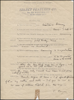 CONSTANCE BINNEY - QUESTIONNAIRE SIGNED