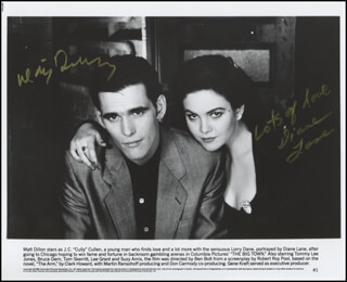 THE BIG TOWN MOVIE CAST - PRINTED PHOTOGRAPH SIGNED IN INK CO-SIGNED BY: MATT DILLON, DIANE LANE