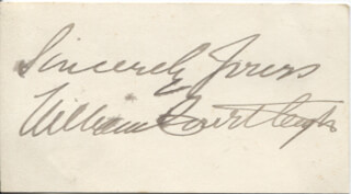 WILLIAM COURTLEIGH JR. - AUTOGRAPH SENTIMENT SIGNED