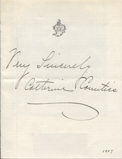 CATHERINE COUNTISS - AUTOGRAPH SENTIMENT SIGNED 1907