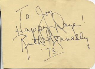 RUTH DONNELLY - AUTOGRAPH NOTE SIGNED 1973