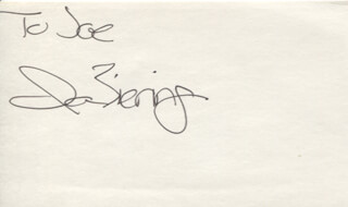 IAN ZIERING - INSCRIBED SIGNATURE