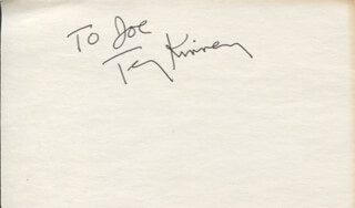 TERRY KINNEY - INSCRIBED SIGNATURE