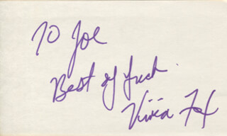 VIVICA A. FOX - AUTOGRAPH NOTE SIGNED
