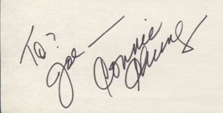 CONNIE CHUNG - INSCRIBED SIGNATURE