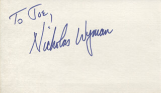 NICHOLAS WYMAN - INSCRIBED SIGNATURE