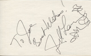 JILL LARSON - AUTOGRAPH NOTE SIGNED