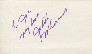 JUDITH McCONNELL - AUTOGRAPH NOTE SIGNED